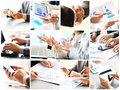 Collage with businesspeople working Royalty Free Stock Photo