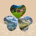 Collage of Chamonix Mont Blanc,France Royalty Free Stock Photo