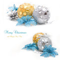 Collage with christmas decoration Royalty Free Stock Image
