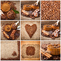 Collage Of Coffee Details. Cho...