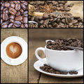 Collage of coffee images various Royalty Free Stock Photo