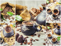 Collage of coffee. a lot of pictures.
