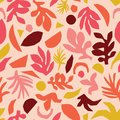 stock image of  Collage contemporary floral pattern  vector. Seamless surface design