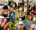 Collage - a couple in love Royalty Free Stock Photo