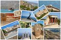 A collage of crete island greece europe Stock Photo