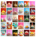 Collage of cupcakes Royalty Free Stock Photo