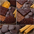Collage de chocolat Photographie stock