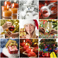 Collage de Noël Images libres de droits