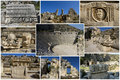Collage del teatro romano Fotografia Stock