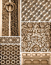 Collage of different intricate patterns Royalty Free Stock Photo