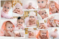 Collage of different photos of children Royalty Free Stock Photo