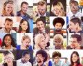 Collage Diverse Faces Group Pe...