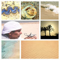Collage with egypt view set Royalty Free Stock Images