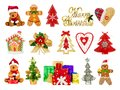 Collage of festive Christmas symbols