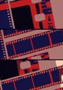 Collage old film strip in lab variations Royalty Free Stock Photo