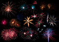 Collage of Fireworks Royalty Free Stock Photo