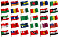 Collage from flags of the different countries Royalty Free Stock Photos