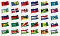 Collage from flags of the different countries Royalty Free Stock Images