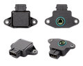 Collage of four throttle position sensor Stock Image