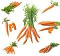 Collage fresco de las zanahorias Fotografía de archivo libre de regalías