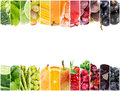 Collage of fresh fruits and vegetables Royalty Free Stock Photo