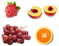 Collage from fresh ripe fruit Stock Photo