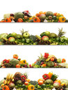 A collage of fresh and tasty fruits and vegetables Stock Photo