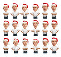 Collage of funny bighead men Royalty Free Stock Photo