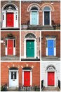 Georgian doors in Dublin Royalty Free Stock Photo