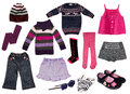 Collage of girl clothing. Stock Photography