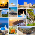 Collage of Greece travel images Royalty Free Stock Photography