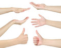 Collage hands isolated on white background Royalty Free Stock Image