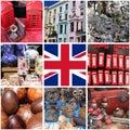 Collage of images of Portobello Road Market Royalty Free Stock Photo
