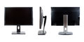 Collage of IPS LCD monitor, the three species. Stock Photos