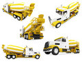 Collage of isolated construction vehicle Stock Photography