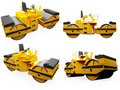 Collage of isolated construction vehicle Royalty Free Stock Image