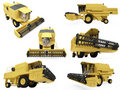 Collage of isolated construction vehicle Stock Photos