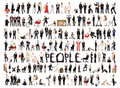 Collage of isolated people Royalty Free Stock Photo