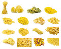 Collage of Italian pasta Royalty Free Stock Photo
