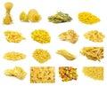 Collage of Italian pasta Royalty Free Stock Photo