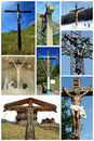 Collage of Jesus crosses Stock Image