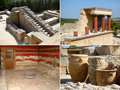 Collage of Knossos Royalty Free Stock Photography