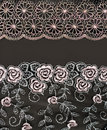 Collage lace with pattern in the manner of flower Stock Photos