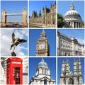 Collage landmarks london uk Royalty Free Stock Photos