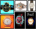 Collage of luxury watches Stock Photography