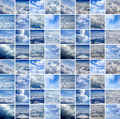 Collage made of many air shoots Royalty Free Stock Photos