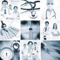 Collage made of some medical elements Royalty Free Stock Photography