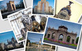 Collage of madrid a with the most beautiful places city Royalty Free Stock Photo