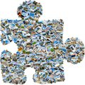 Mosaic single puzzle piece Royalty Free Stock Photo