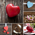 Collage mothers day with heart shapes Stock Photo